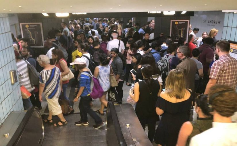 The TTC was total chaos during the afternoon commute in Toronto